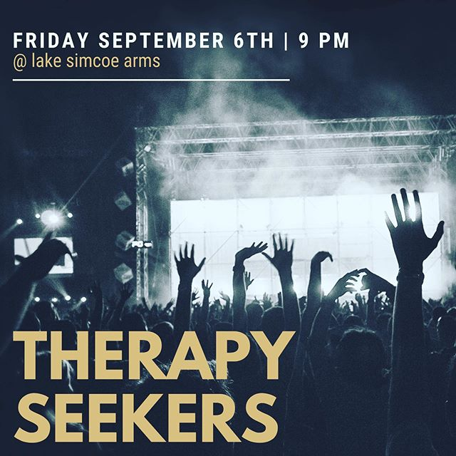 Who else is excited for Therapy Seeker tonight, because we are! #entertainment #thearms #tgif #lakesimcoe #lakesimcoearms #britishpub #livemusic #localmusicians #jacksonspoint
