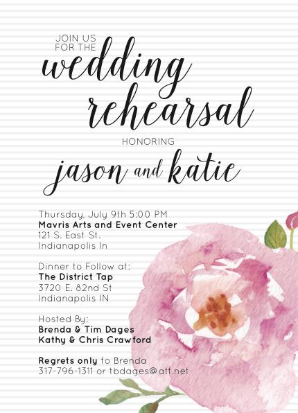 Floral Wedding Rehearsal