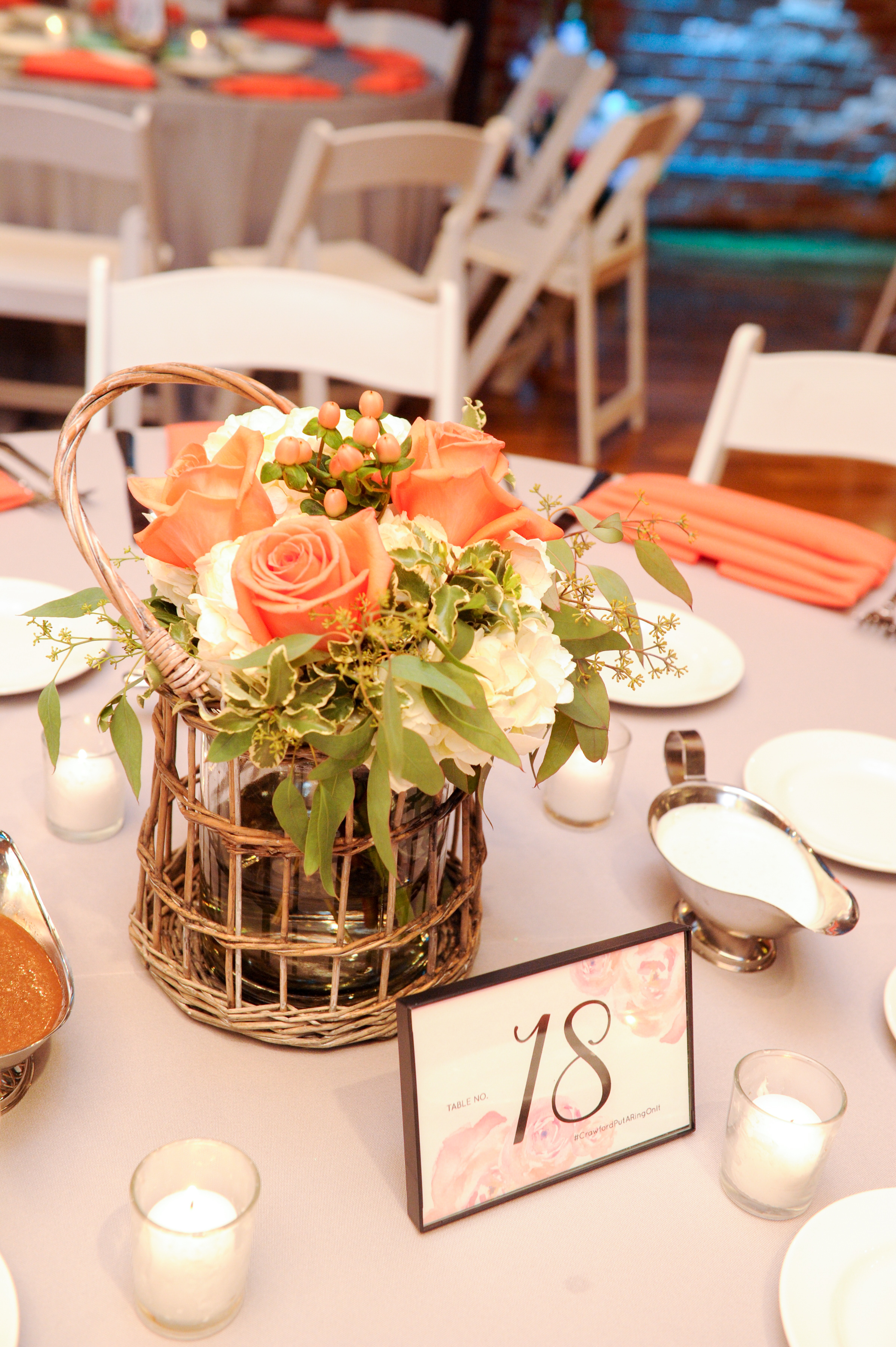 Pink Watercolor Table Numbers