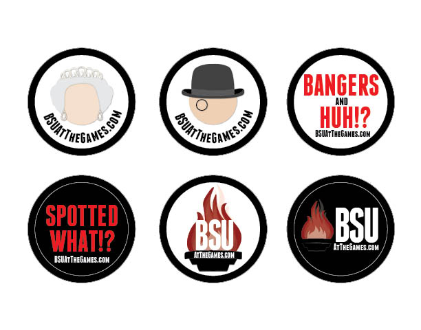 BSU at the Games Stickers