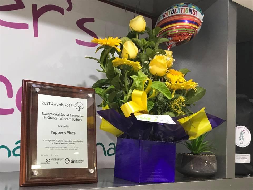 Peppers place zest award.jpg