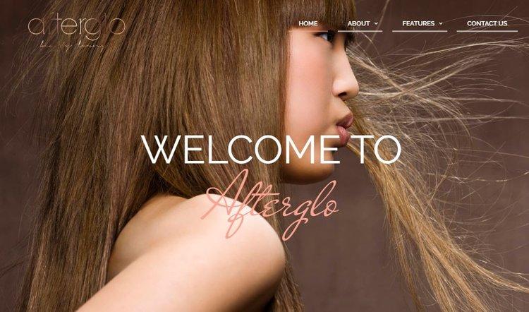 AfterGlo Beauty Lounge    Website Design - June 2017