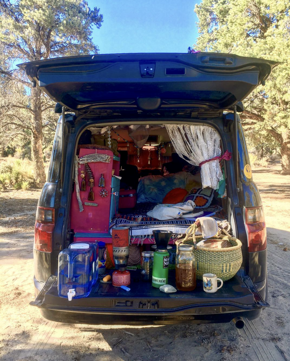 - Christina's wanderlust rig. She's an experienced stealth camper!