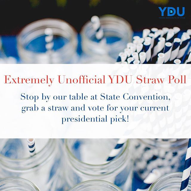 Stop by our table on June 22 at @utahdemocrats State Convention ti cast your vote for 2020 in our straw poll!