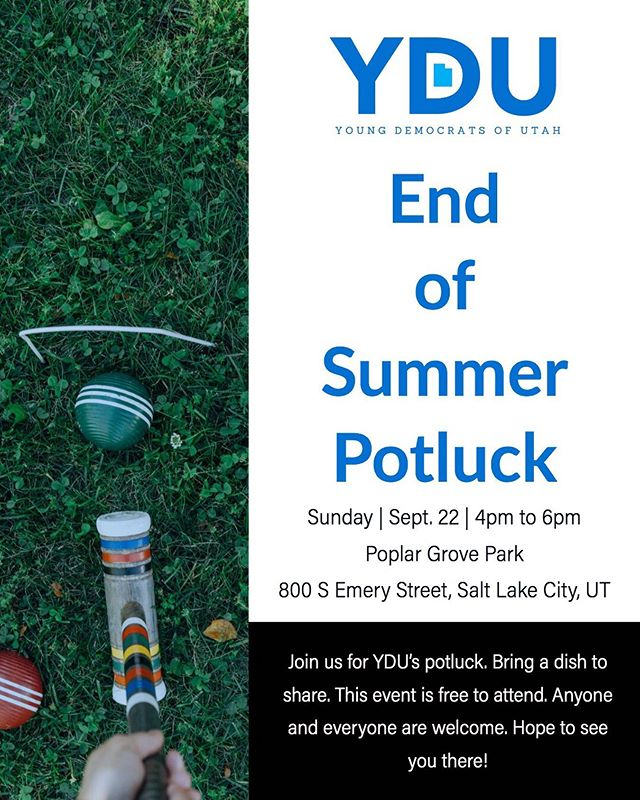 Join us for YDU's potluck. Bring a dish to share. This event is free to attend. Anyone and everyone are welcome. Hope to see you there!