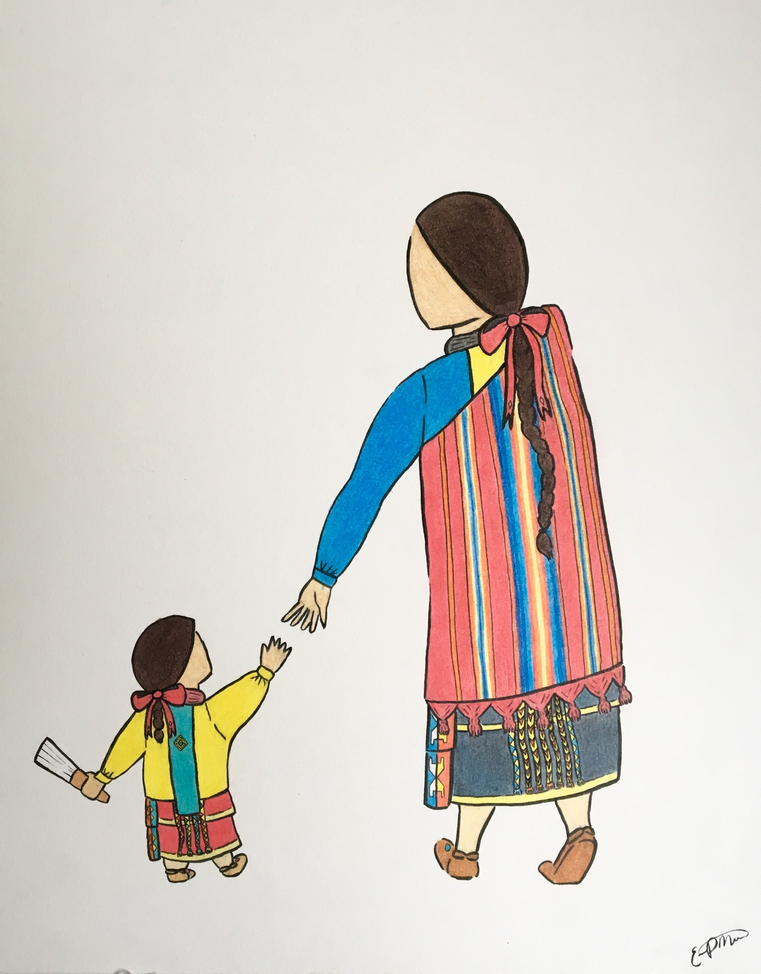 """Connection"" - Osage mother + daughter 