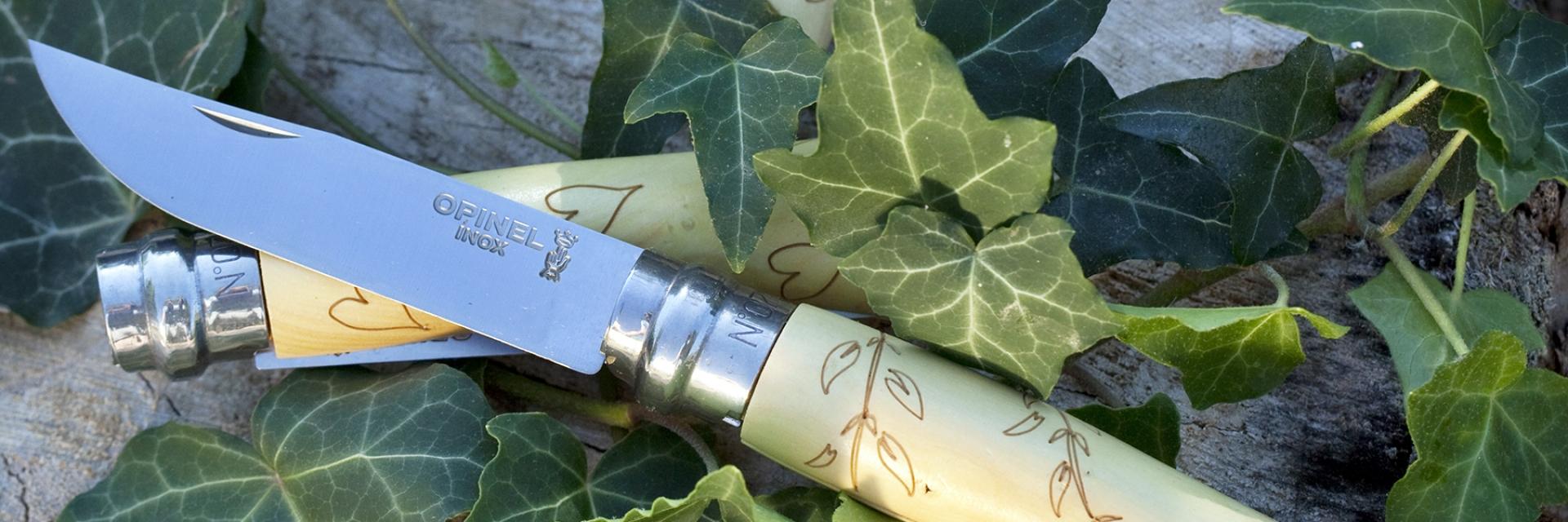 Opinel engraved handles