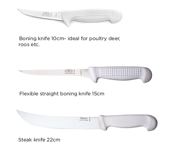 This is an example of premium flatware knives made by Victory in New Zealand.All major meat and fish processing companies in New Zealand and Australia use Victory Knives