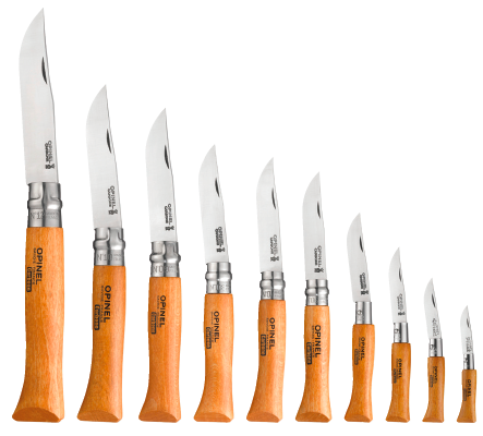 Opinel folding knife range