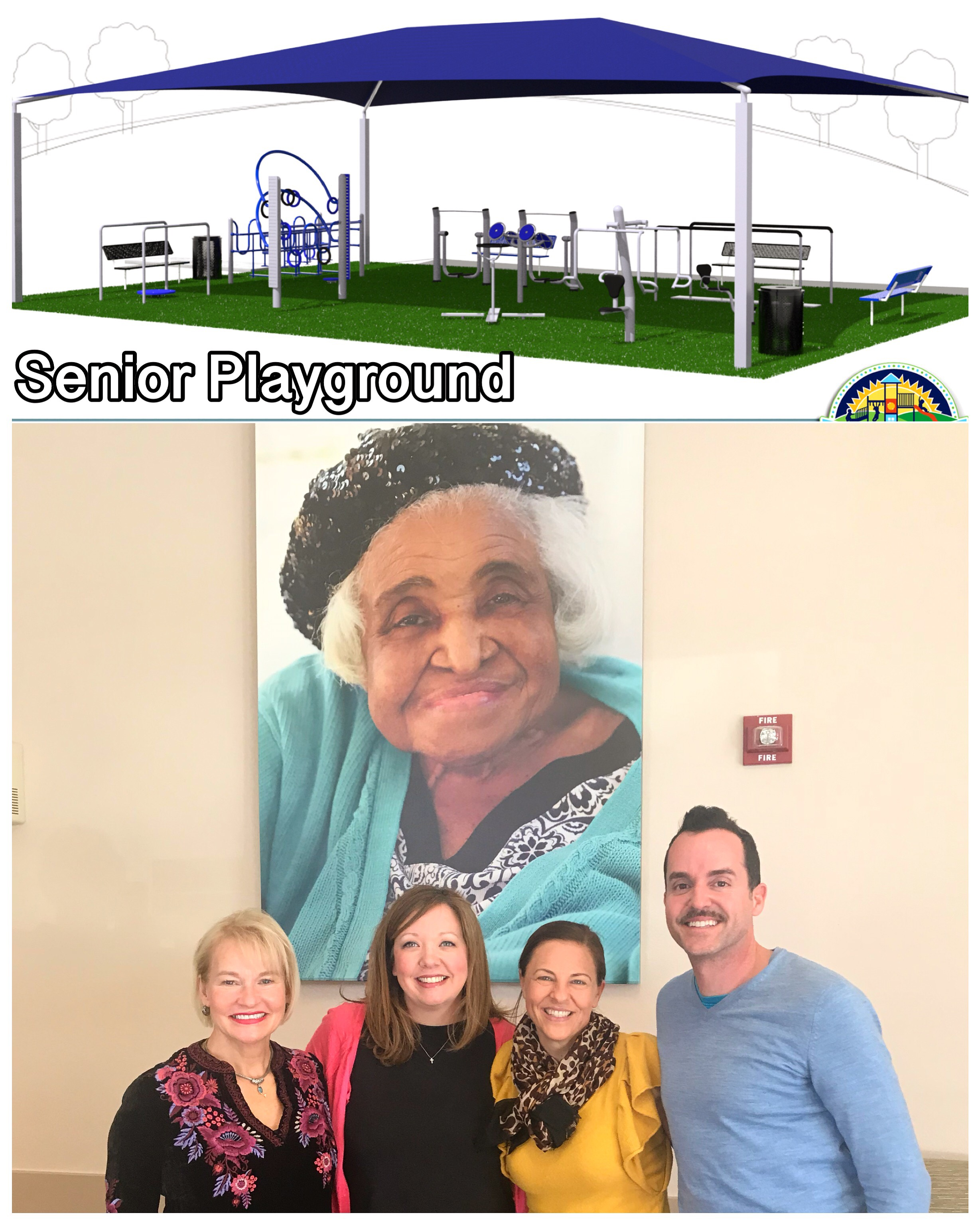 In January of 2019, Great Age Movement finalized the Senior Playground proposal with St. Dominic's Village C.E.O., Amy Shields and B.D.O., Kimberly Elliot.