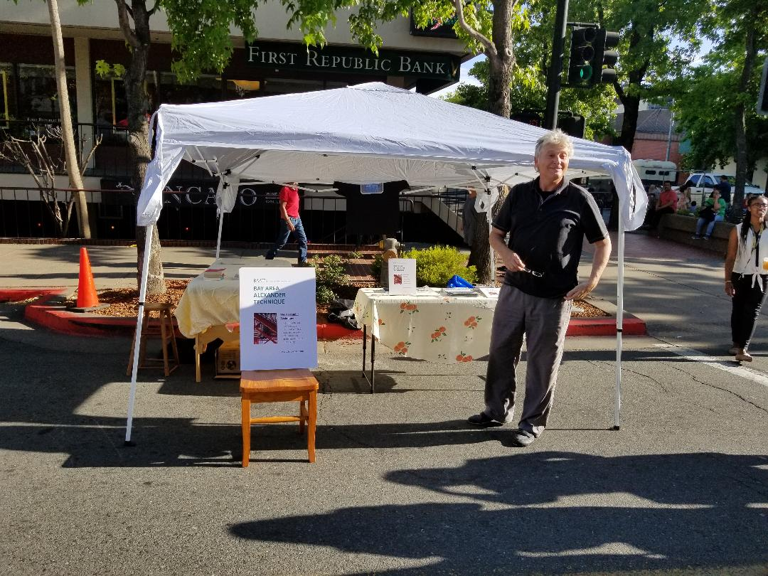 John and our setup at Farmers   Mkt.jpg