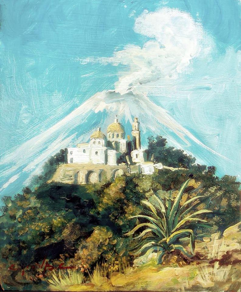 VISTA AL VOLCAN POPOCATEPETL  Oil / canvas  16 X 20 in.  2008