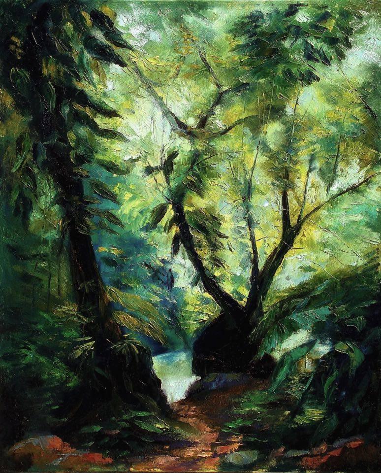 EL BOSQUE (LUZ DE CUETZALAN)  Oil / canvas  40 X 32 inches  2011