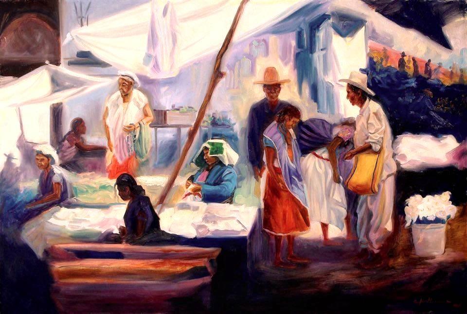 EL ENCUENTRO  Oil / canvas  40 X 60 inches  2011