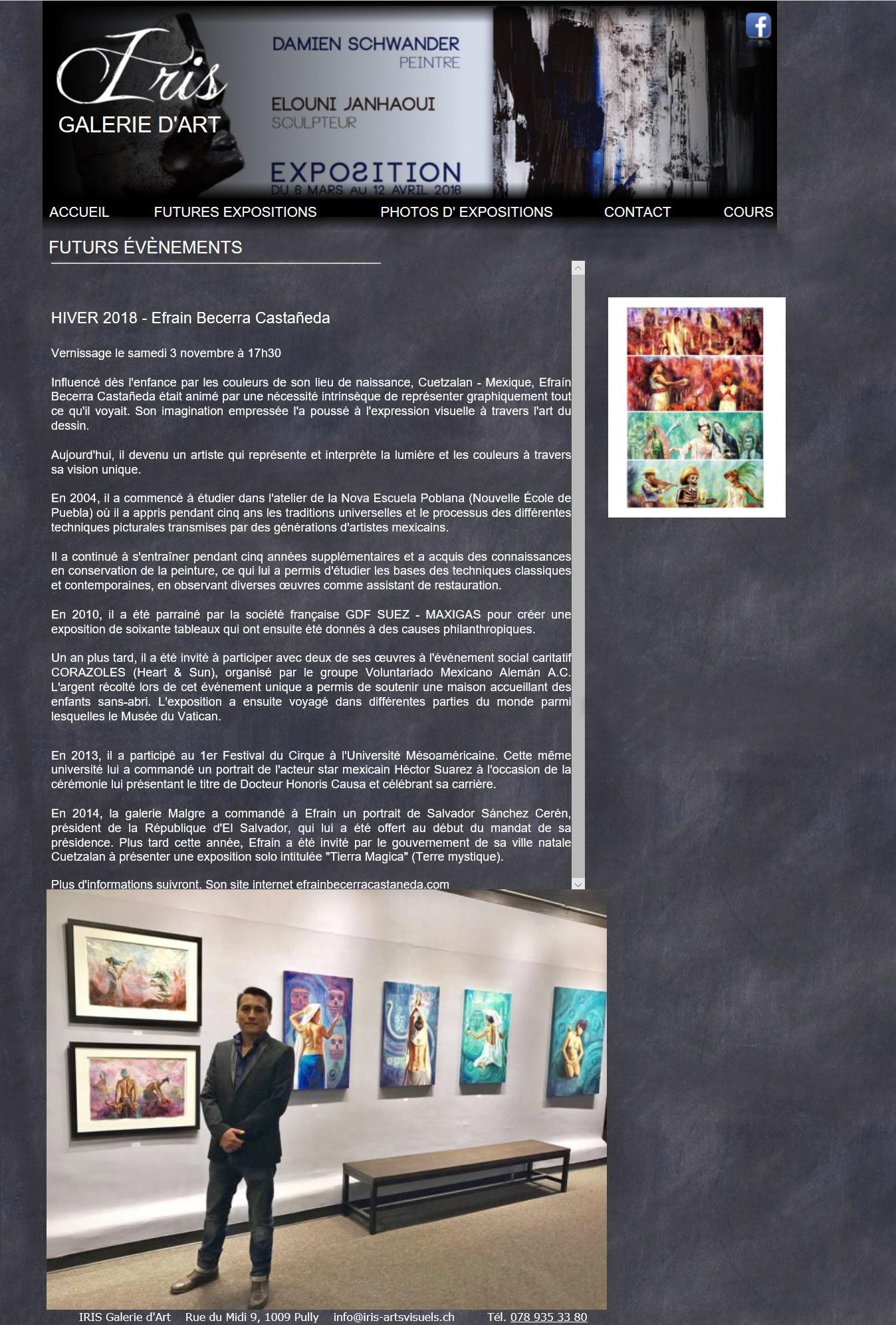 "PULLY, VAUD, SWITZERLAND ""MICTLAN"" - Solo exhibition"