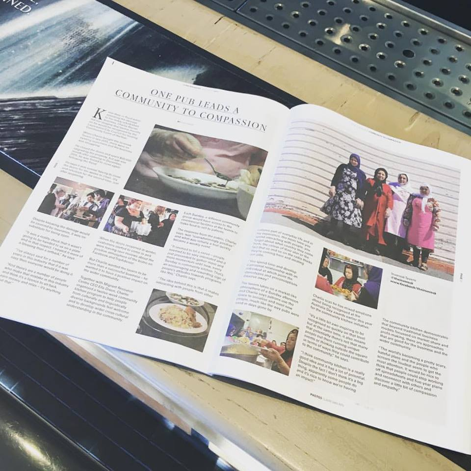 An article about the  #communitykitchen in issue seven of @lumemag May 2017. Keep supporting this project folks. Cheers. Charlie  #inveresktavern #communitykitchen  #opendoorsopenarmsopenhearts