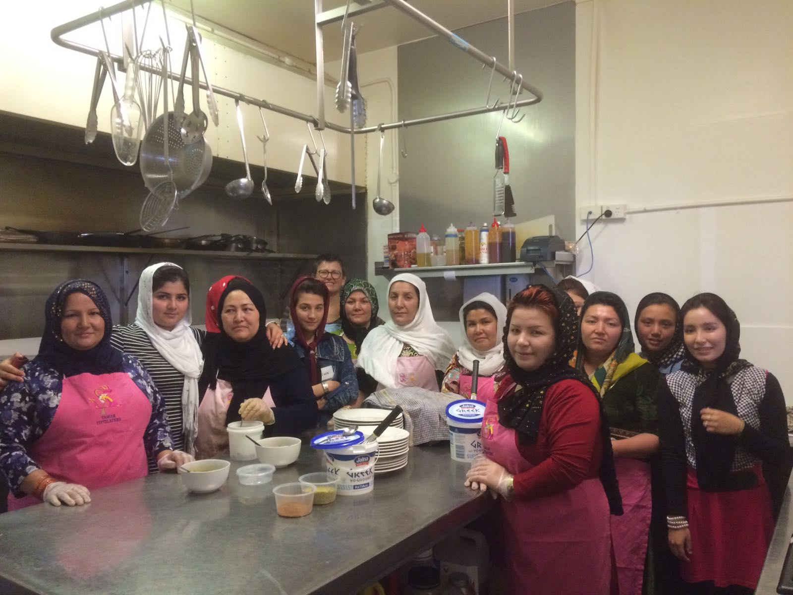 Afghan Hazara cooking group.jpg