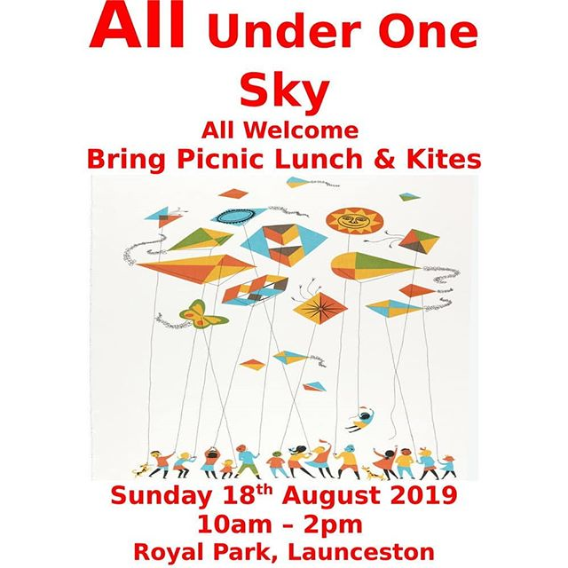 ALL UNDER ONE SKY  10:00 am  2:00 pm  Royal Park Launceston,  18 August  #peacefestival #peacefestival19 #peace #peacemusic #tamarcommunitypeace