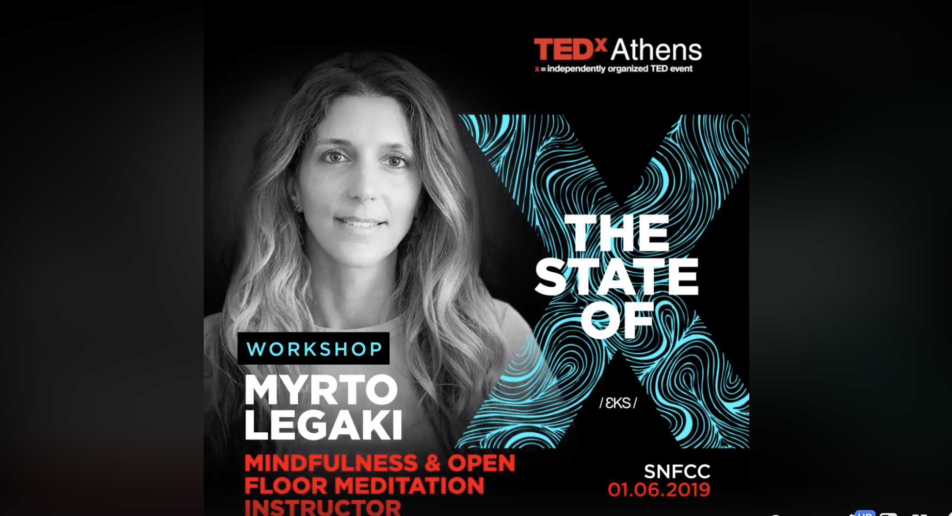Myrto Legaki TEDxAthens 2019 LAB Open Floor workshop