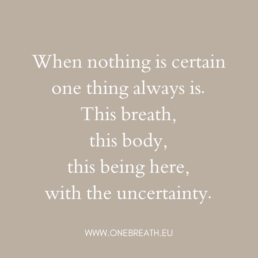 One Breath Mindfulness Center Letters