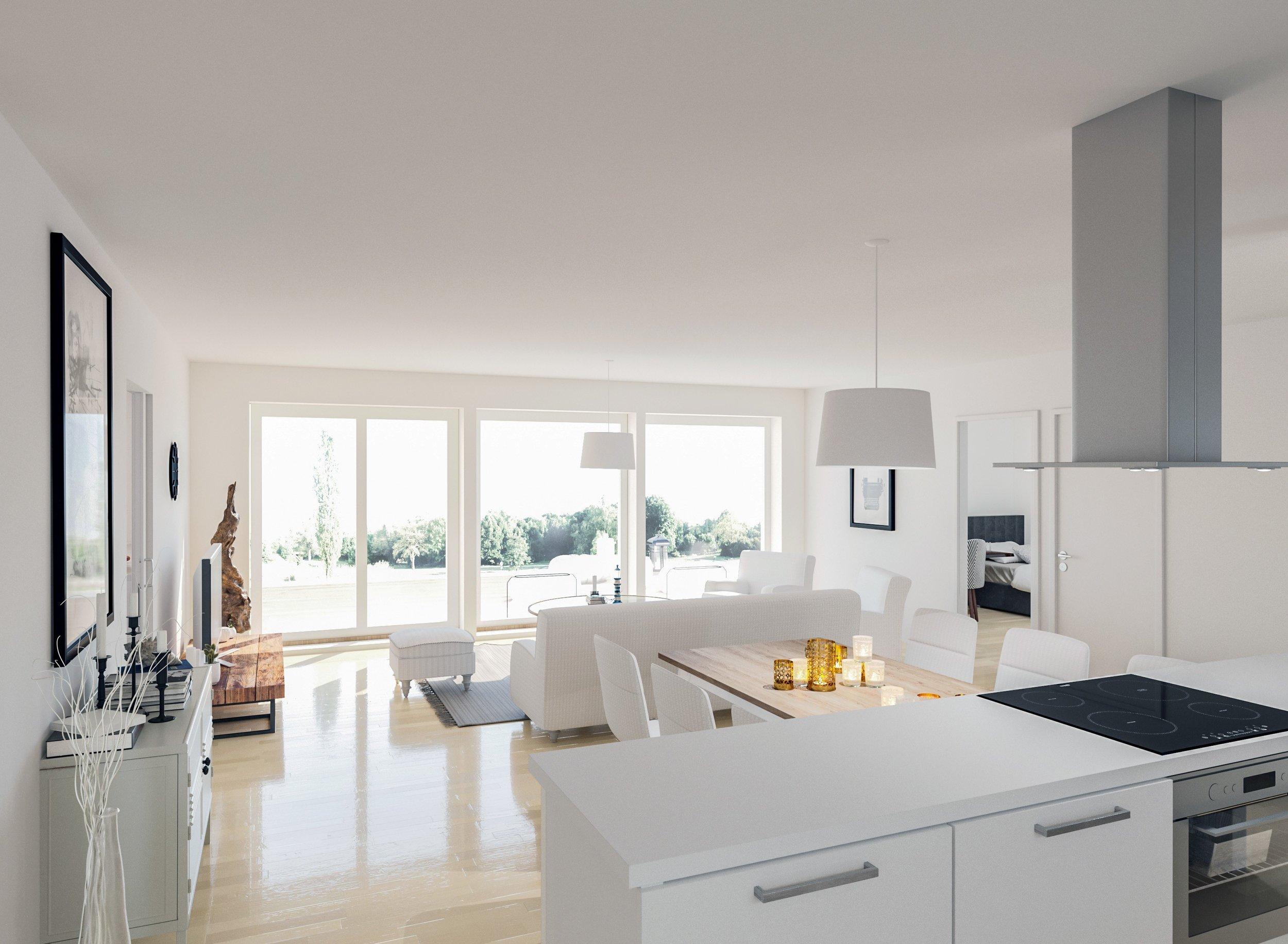 Olohuone ja keittiö 103 m2