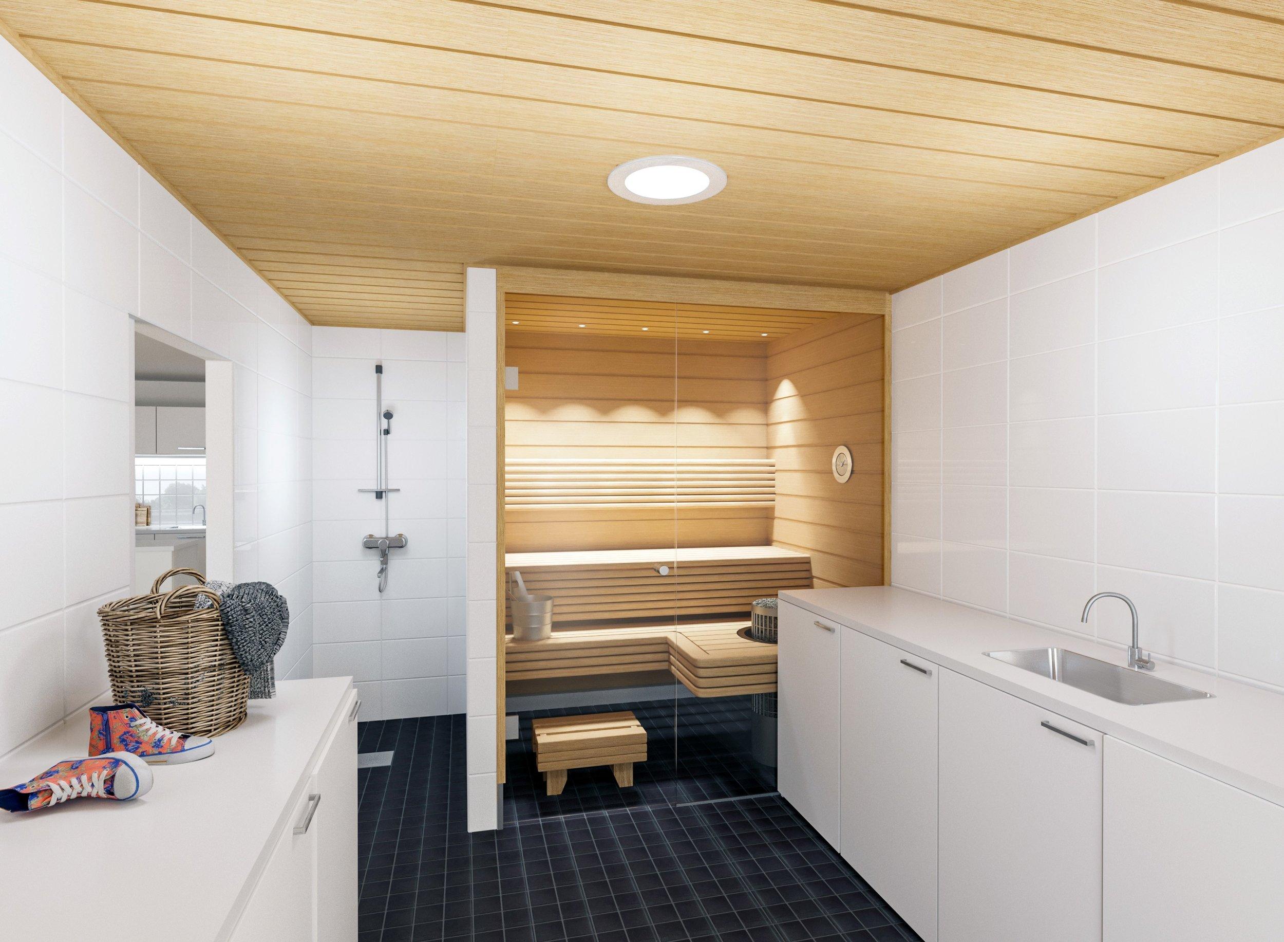 Kylpyhuone ja sauna 103 m2