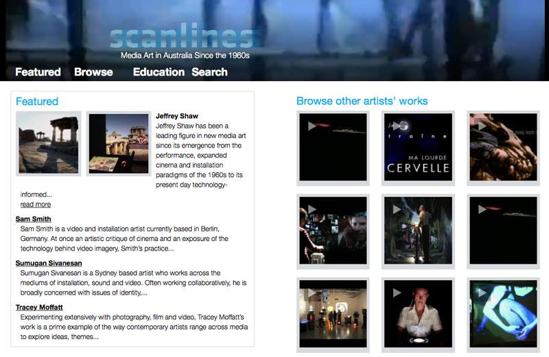 Scanlines.net homepage