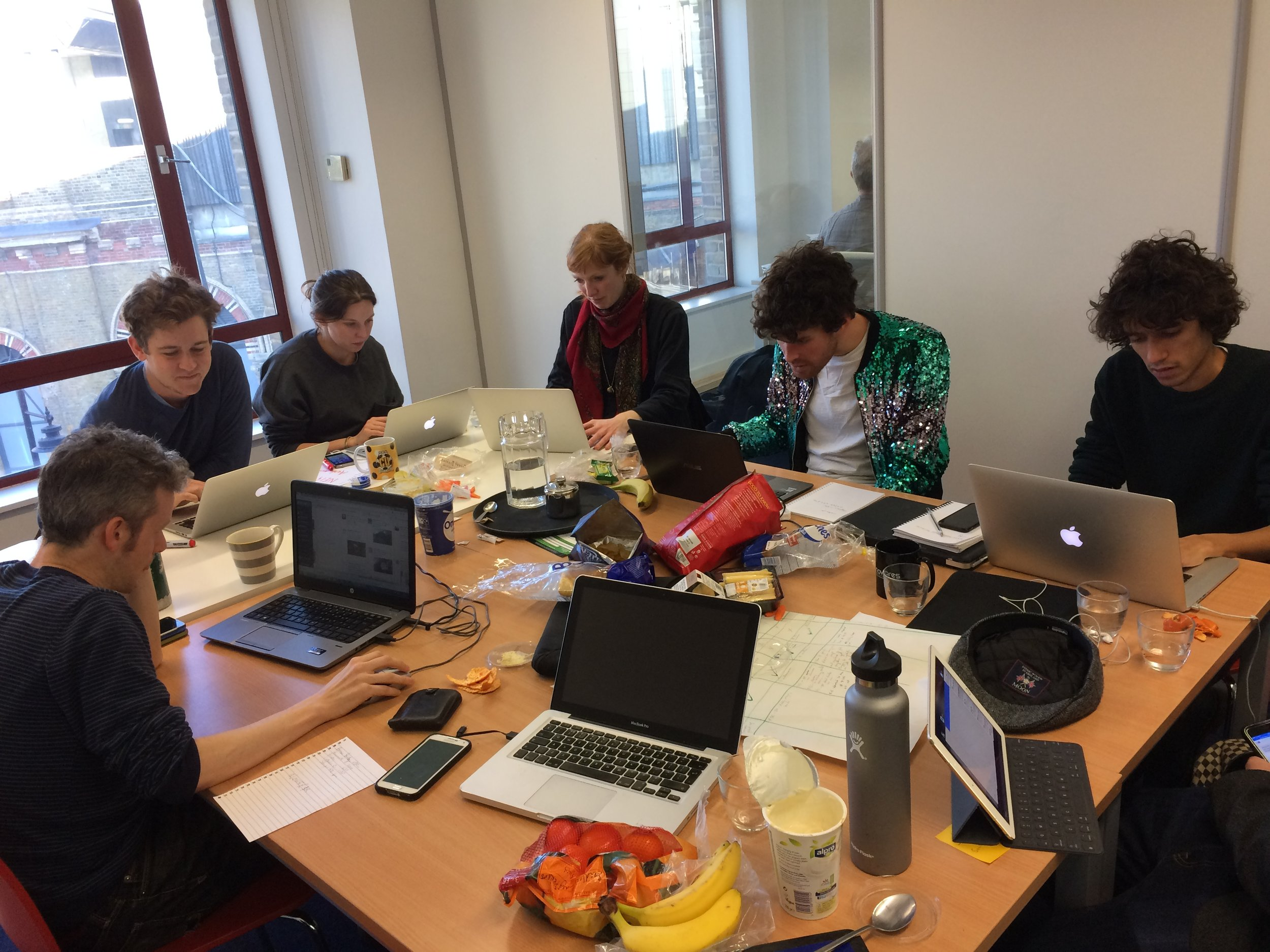 Some of the Bridges Not Walls comms team on January 20th.