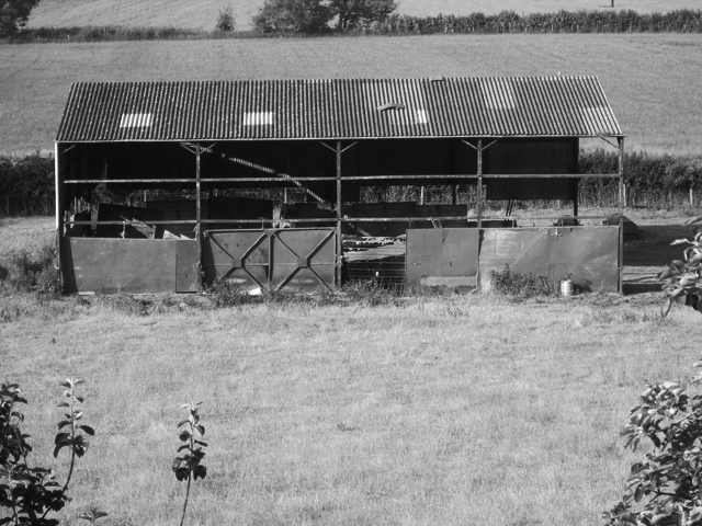 above: Steel hay barn, Somerset
