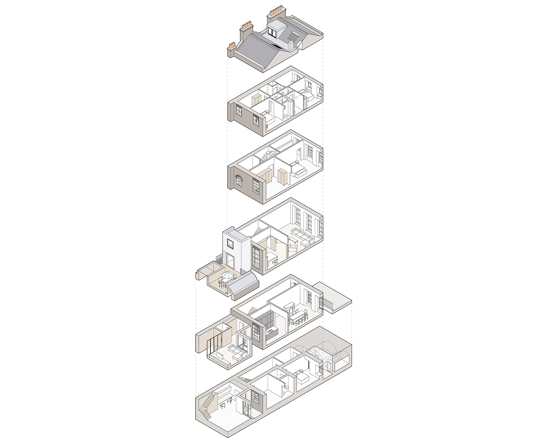 Prewett Bizley Architects - Bloomsbury House - Axo 4.jpg