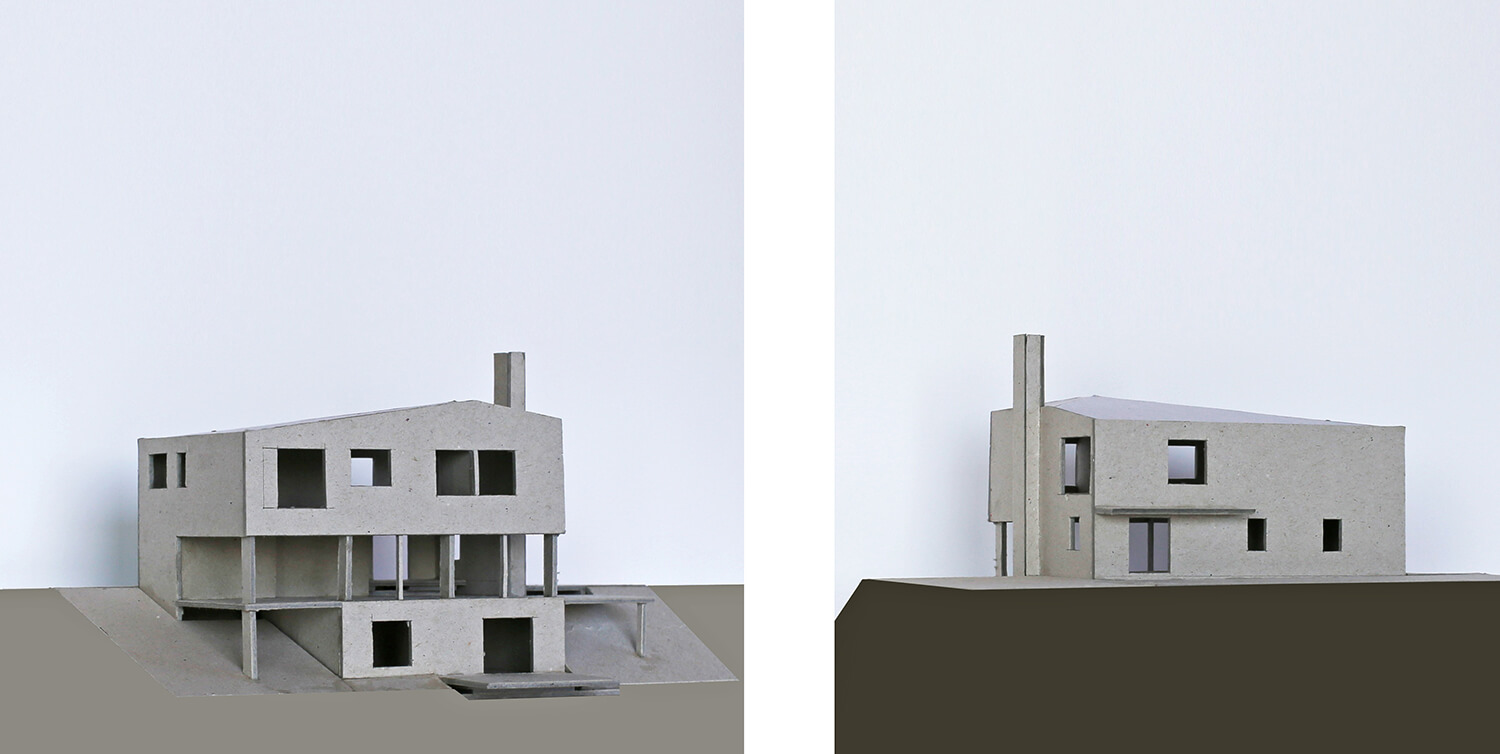 Design models for a Passivhaus in Devon - compact form, large areas of south-facing glazing