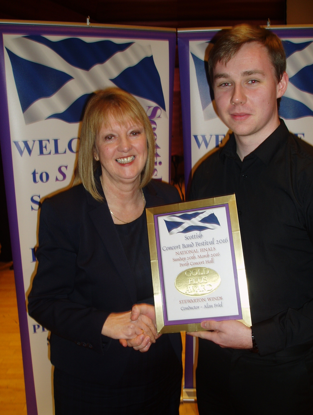 Sam received the award from adjudicator, Hughina Naylor.