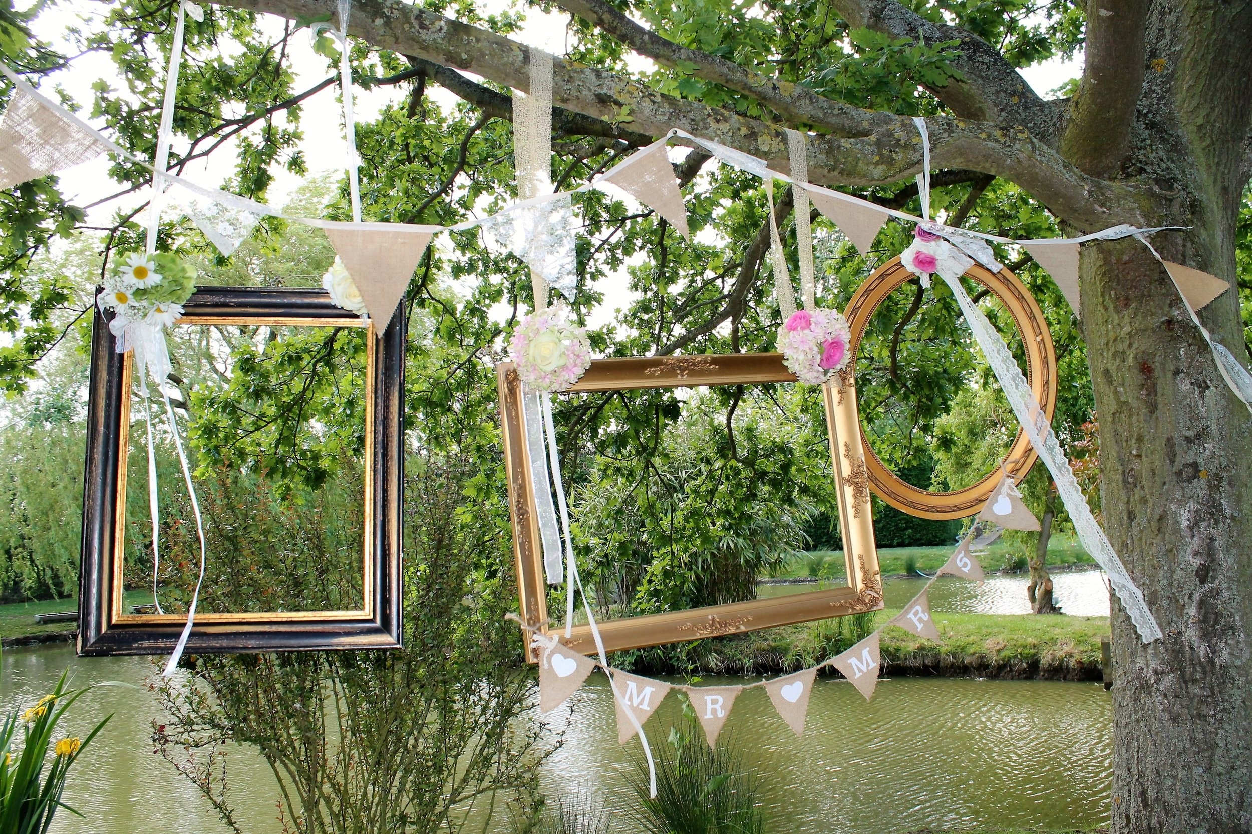inventory - inspiration Vintage frames in trees.JPG