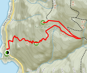 Map to Tunnel Bluffs