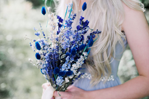Rustic Blue Dried Flower Bouquet