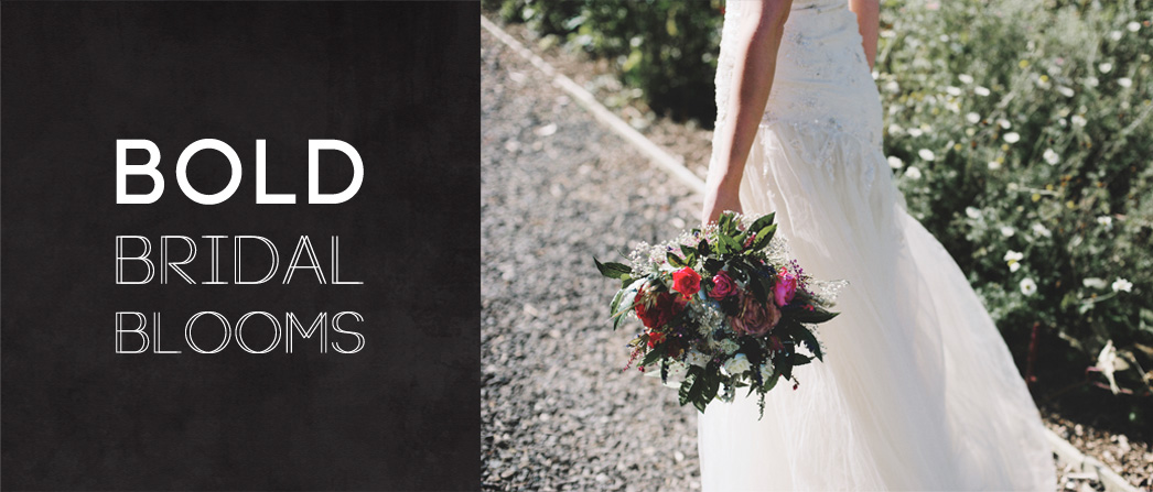 The Sleeping Flower Company Look Book Bold Bridal Blooms