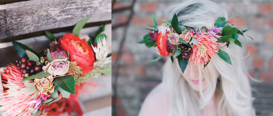 The Sleeping Flower Company Look Book Bride Crown Floral headband