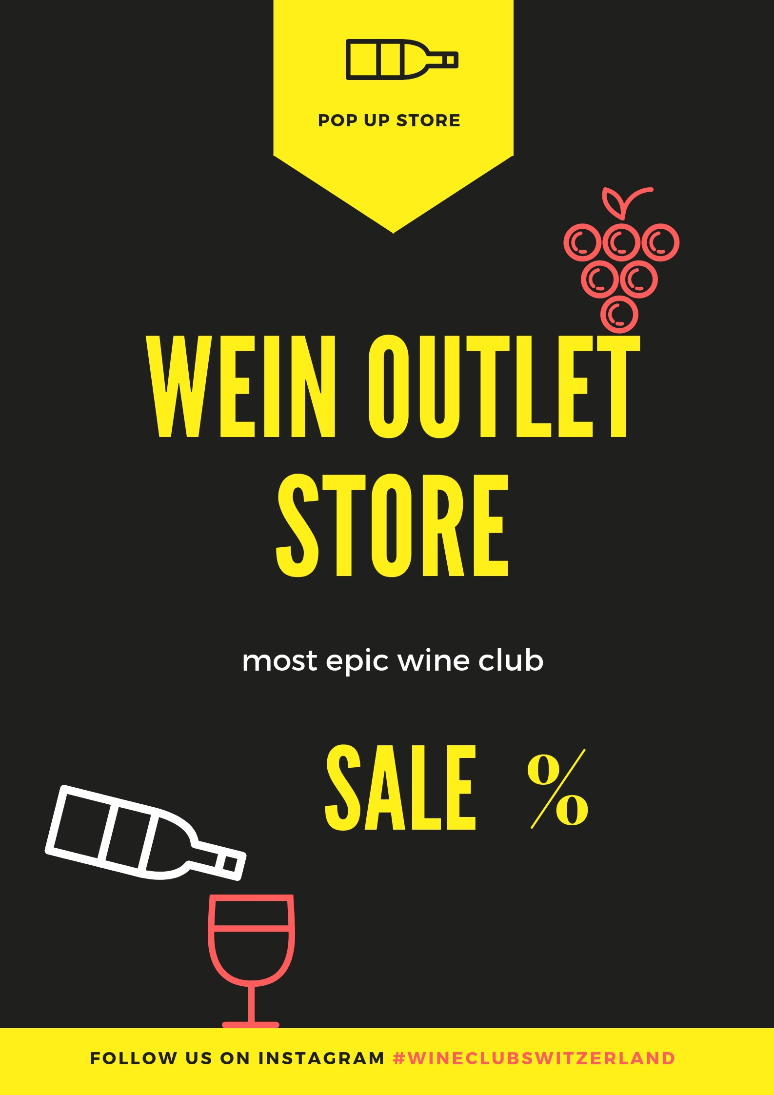 most epic wine club - we just open our POP UP Store in Switzerland visit us and grab your best deal!