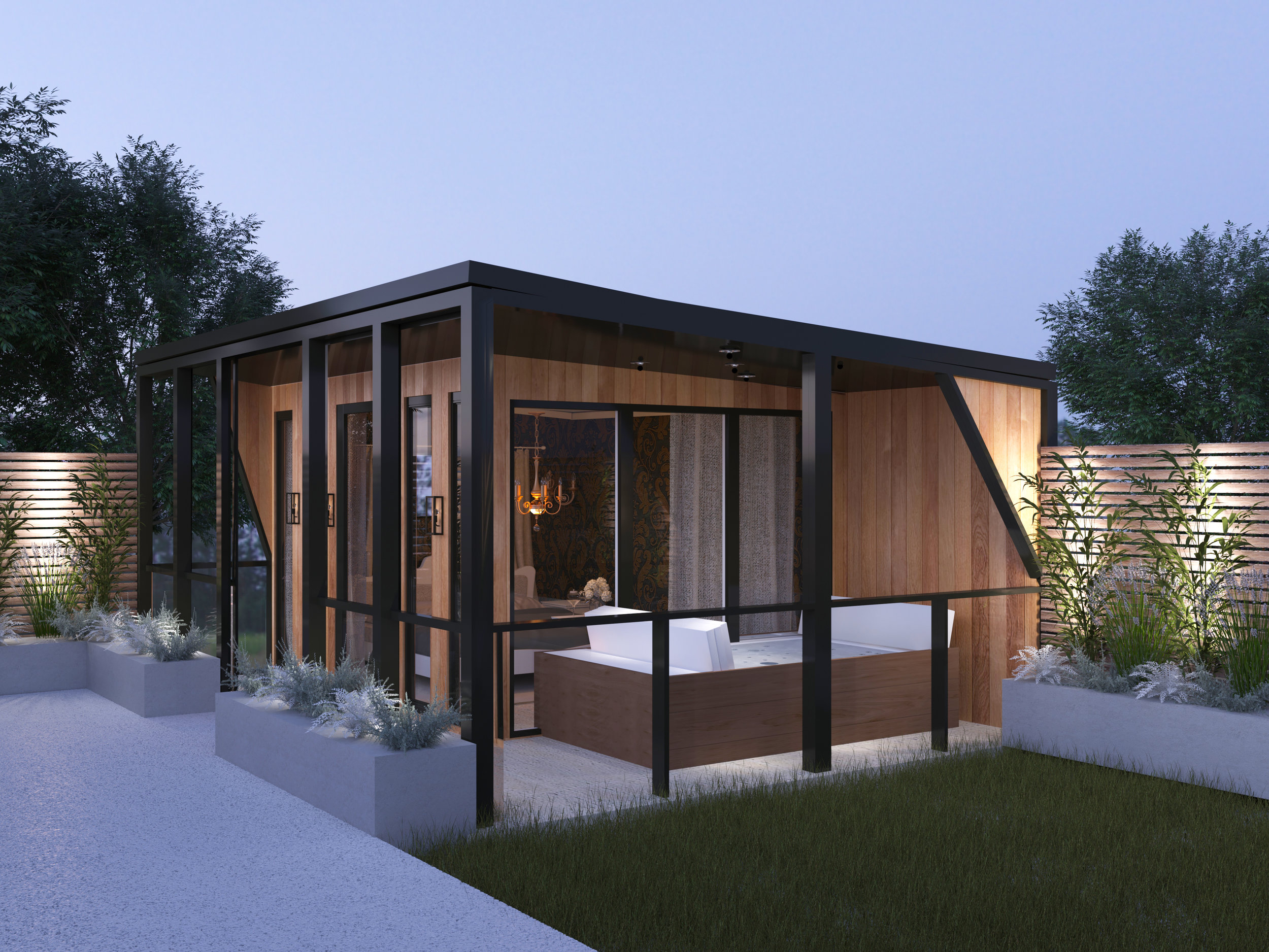 Luxury Holiday Let - Designed on our stunning Aspen studio, a beautiful studio-style luxury holiday let, complete with under-floor heating & bi-folding doors.