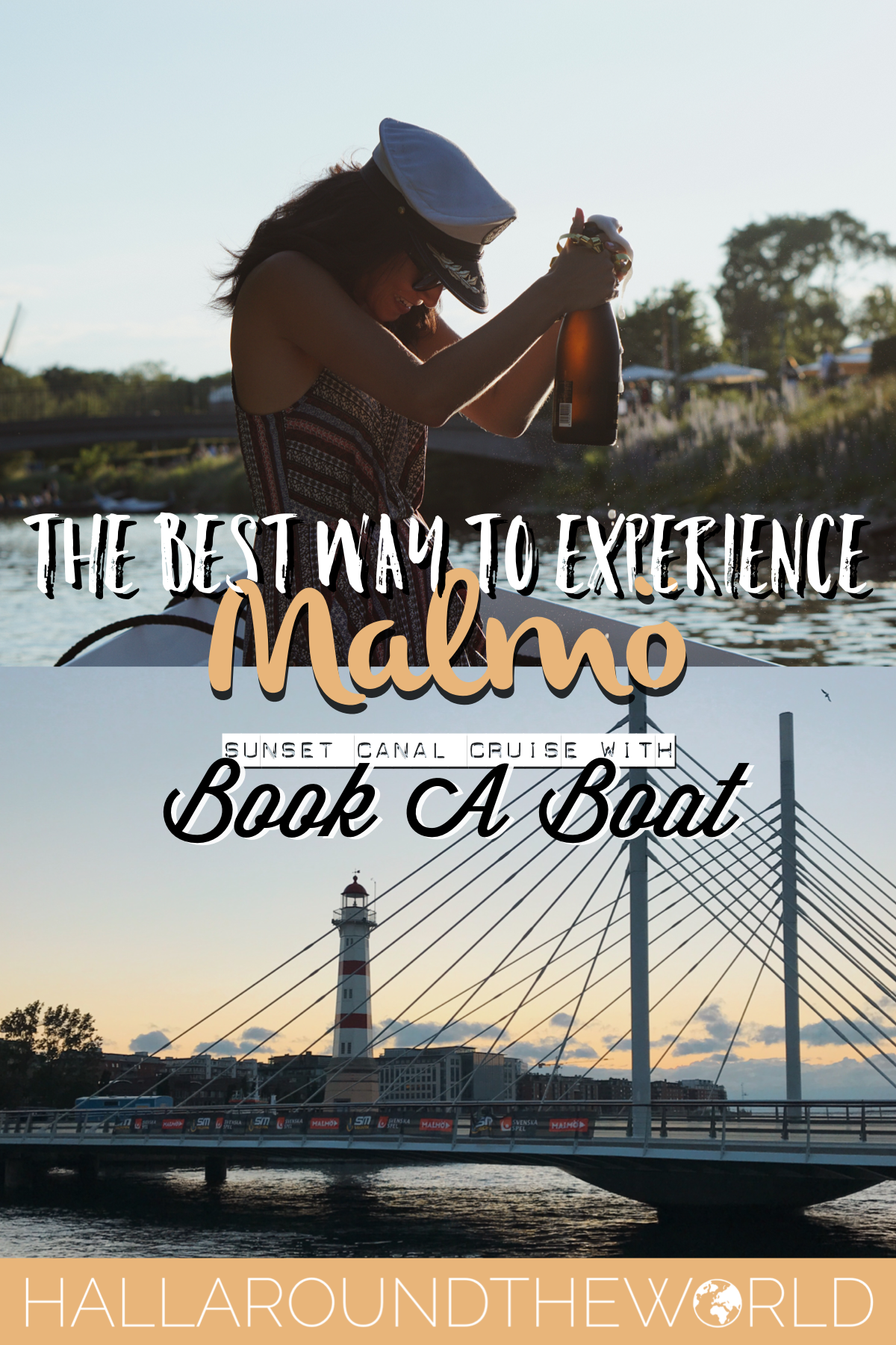 The Best Way to Experience Malmo - Sunset Canal Cruise with BookABoat | HallAroundtheWorld