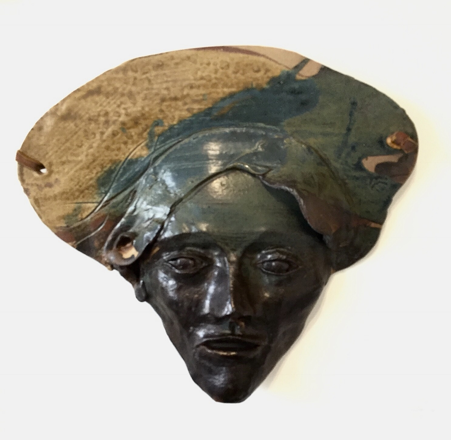 Vintage Ceramic Mask by Marco Coletti