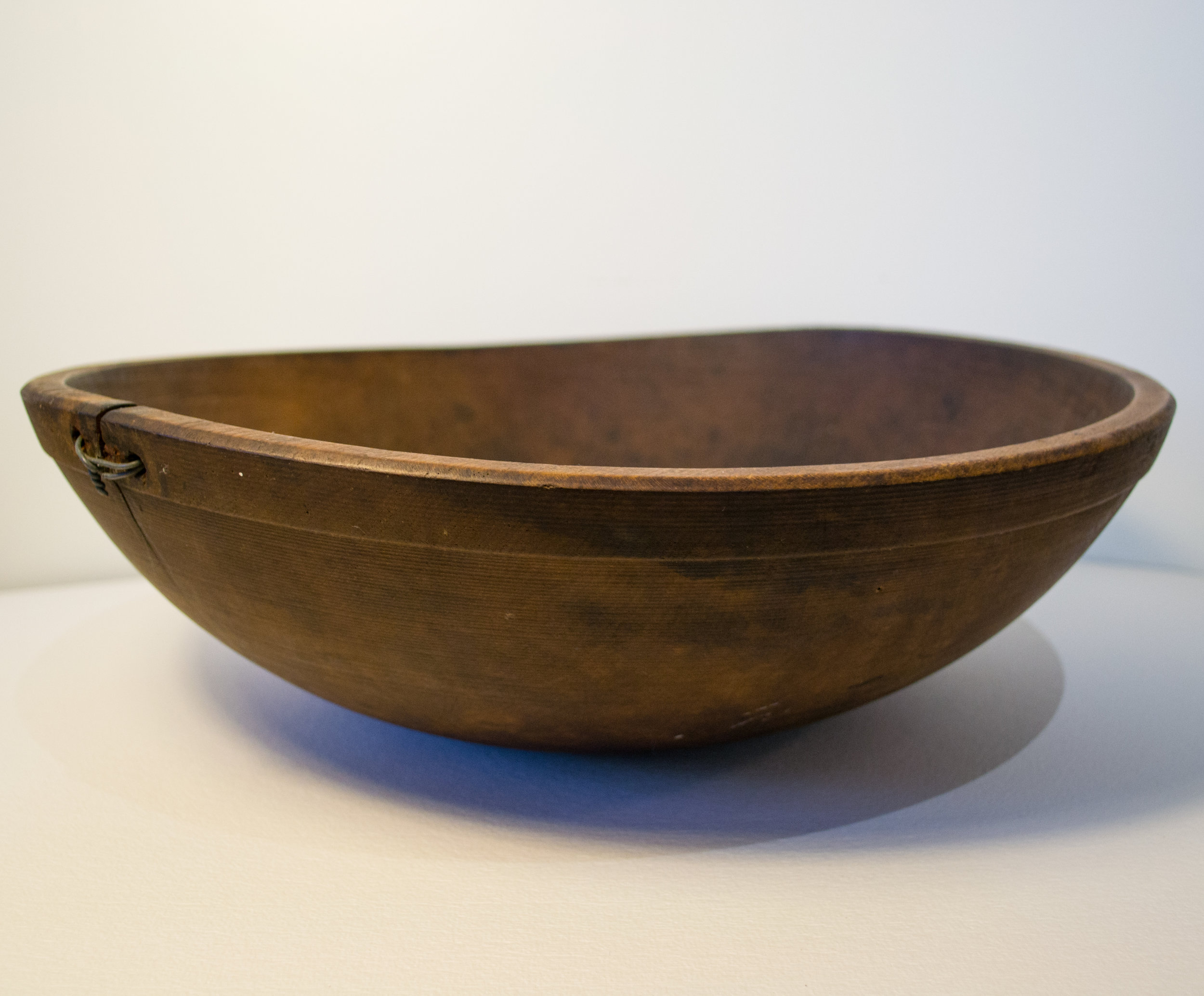 Antique Turned Wood Bowl