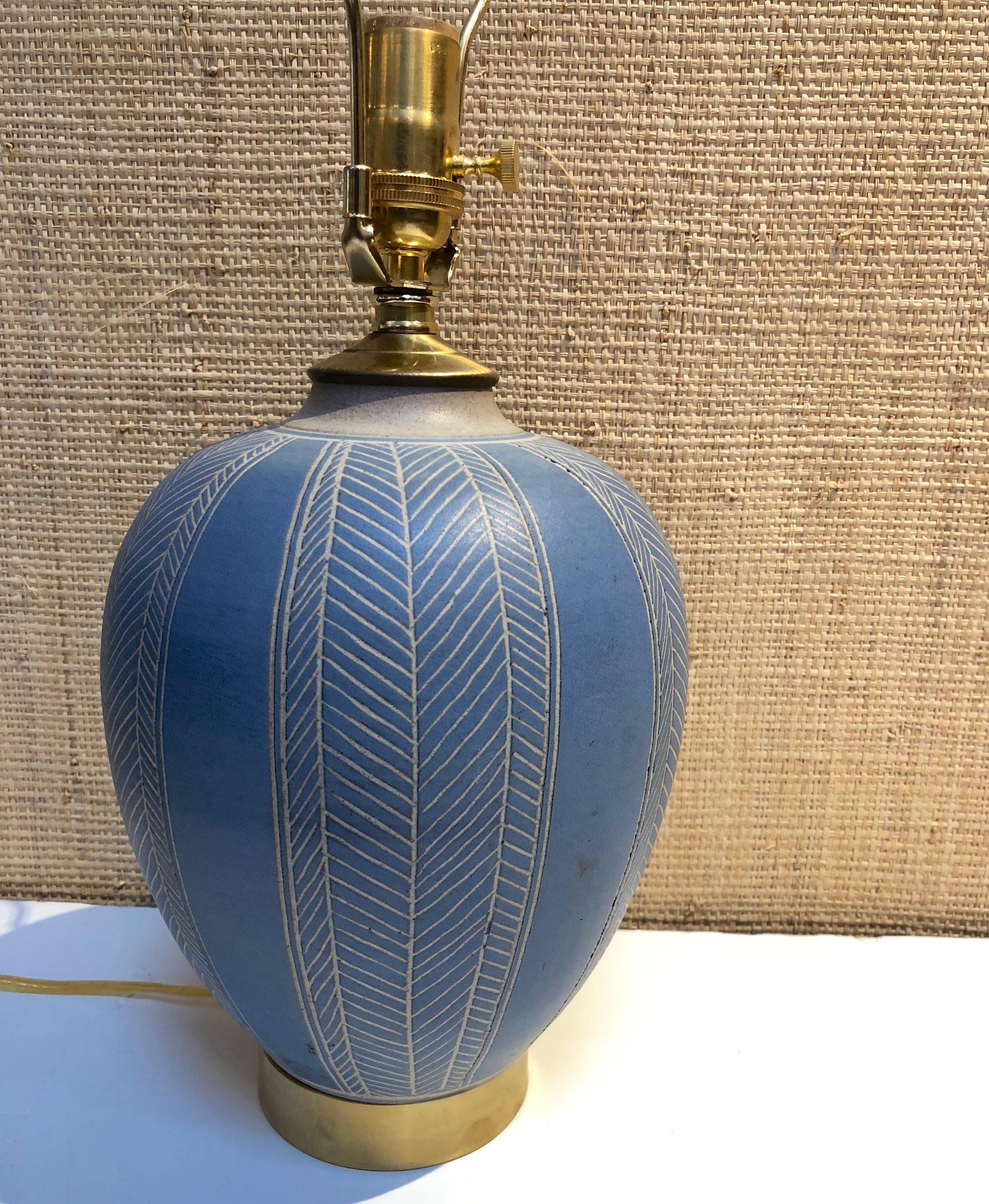 Vintage Bennington Pottery Lamp
