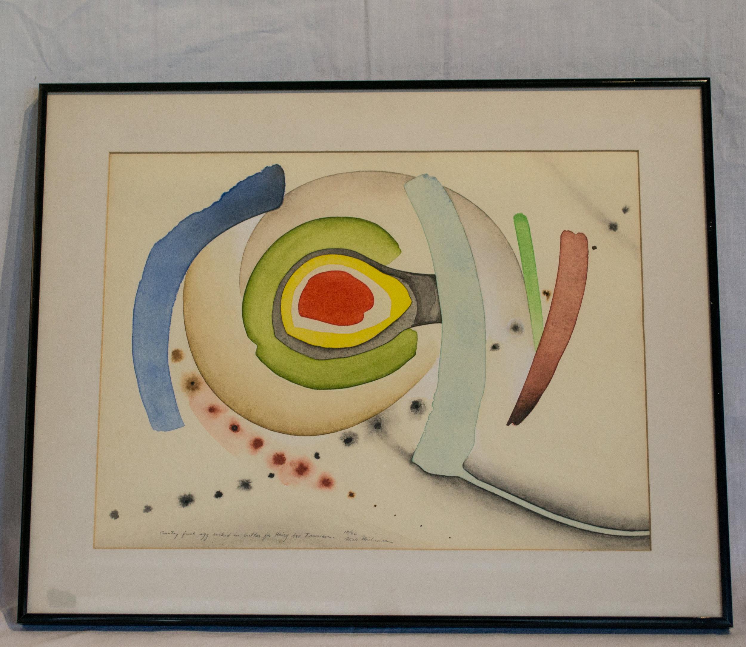 Niels Michaelsen Watercolor Painting in Frame