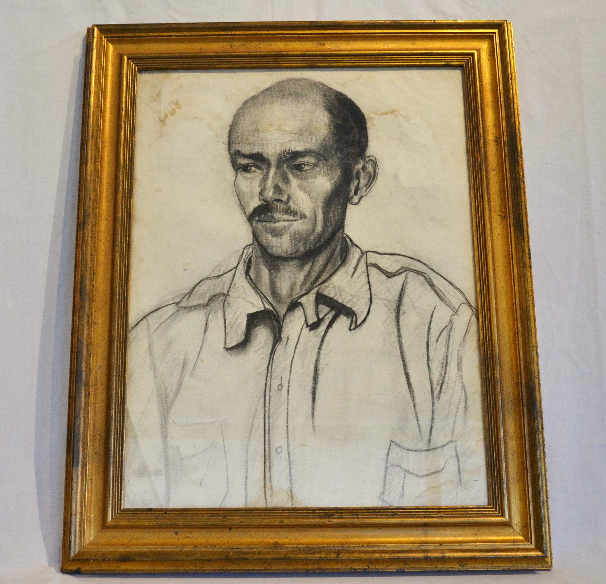 Portrait of Man in Gilt Frame by Nan Mason