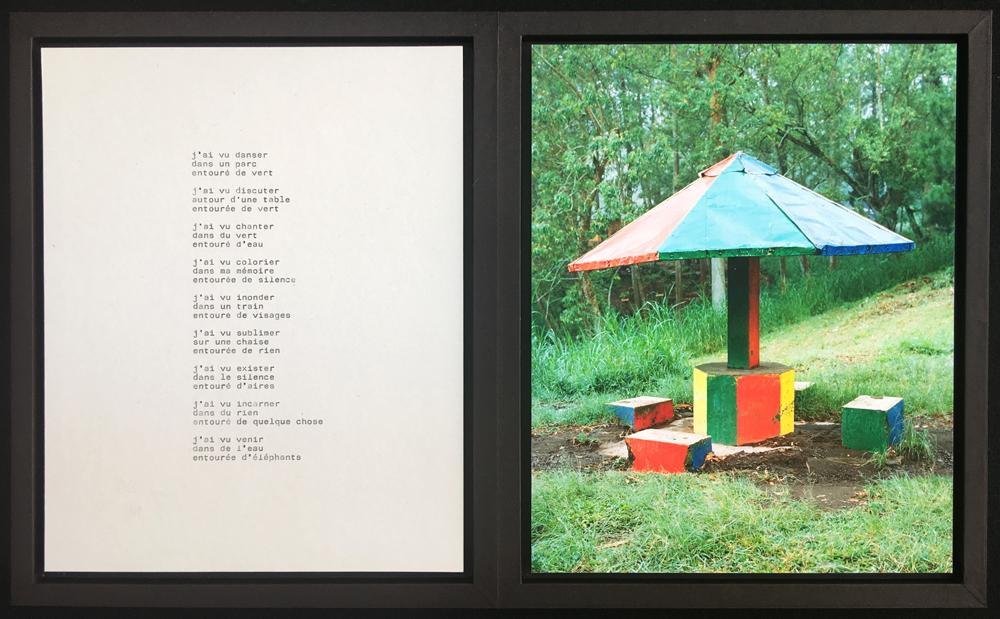 JAHAGA   texte (papier machine) et photographie (jet d'encre) coffret : 23x28x2,5cm (fermé) / 28x46x2,5cm (ouvert) édition unique 2018