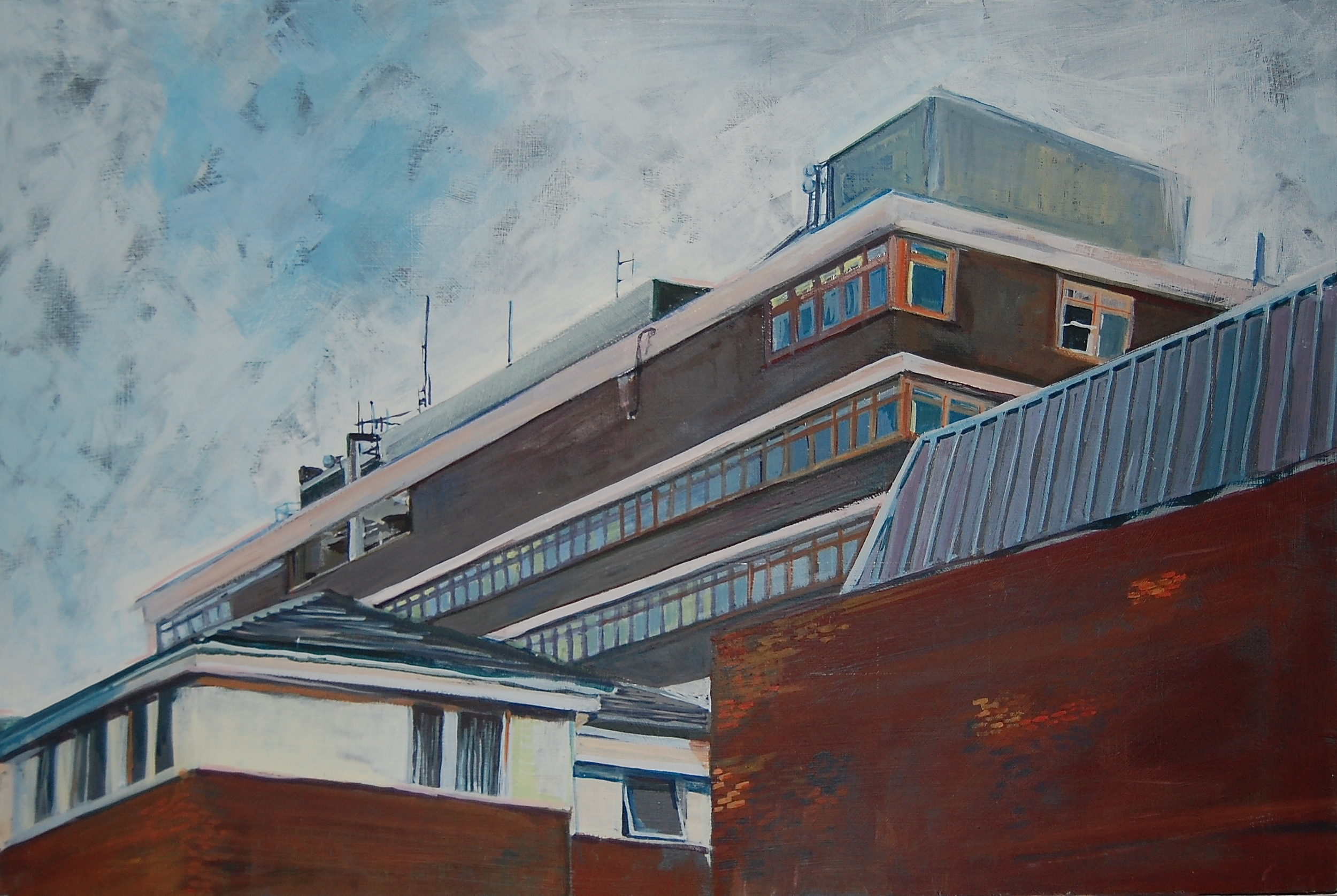 THE INSTITUTE: egg tempera on board (40 x 61cm) 2014