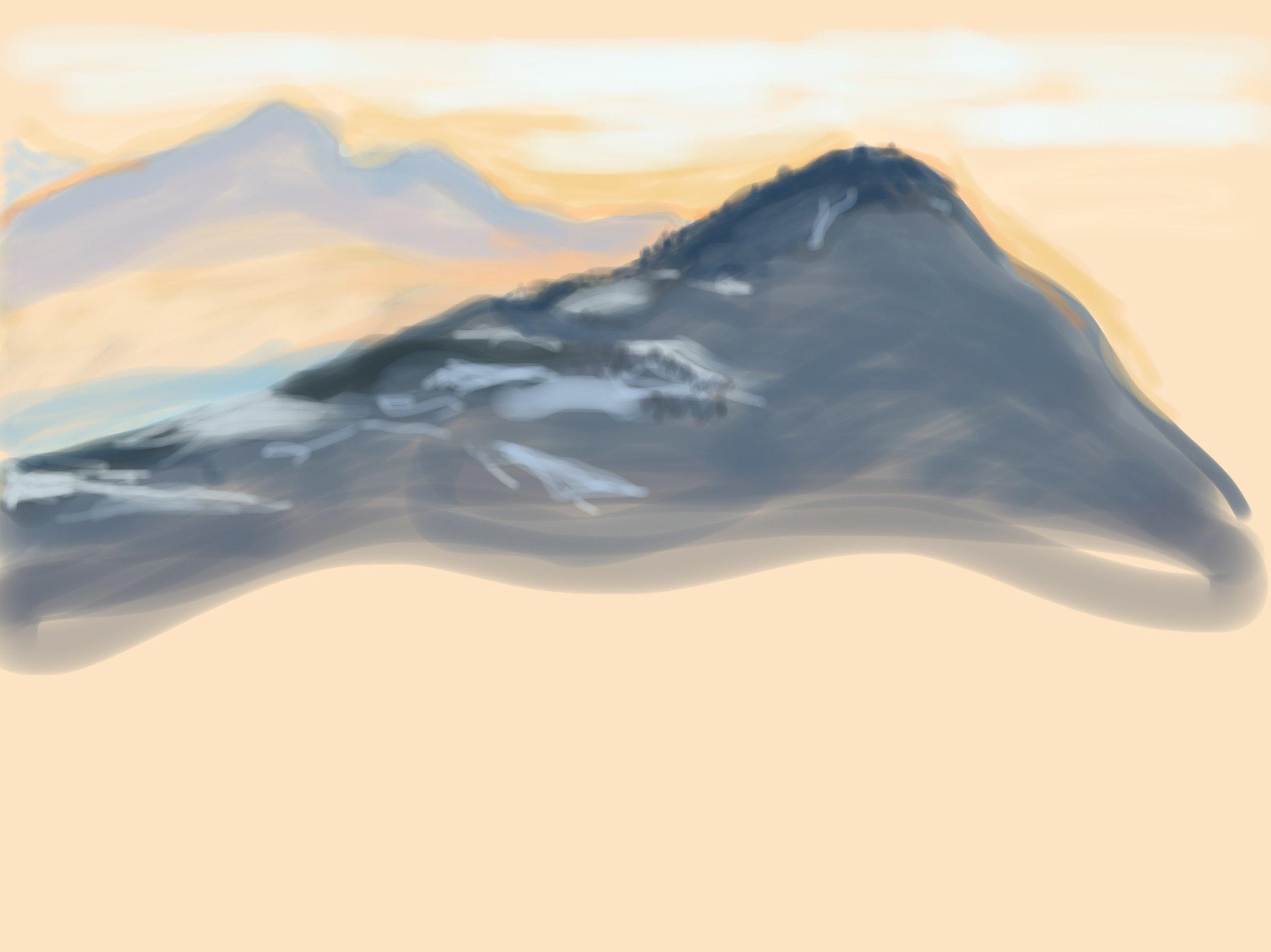 Sunset Morzine Feb '19