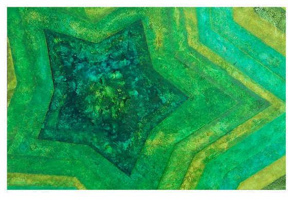 Green Abstract Postcard