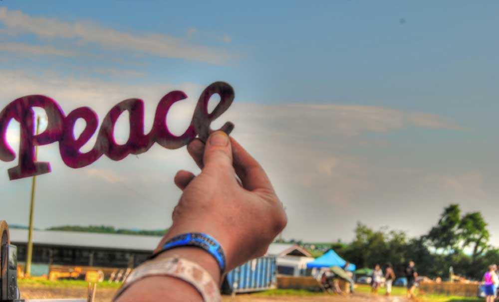 peace symbol photo music fest